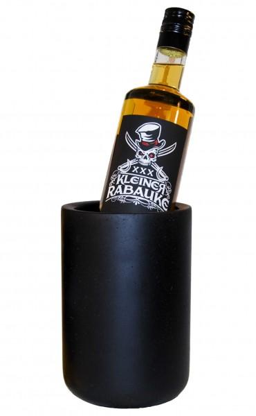 Kleiner Rabauke Likör mit Flaschenkühler Beton Schwarz